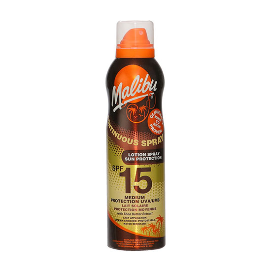 Malibu Continuous Spray SPF15 With Shea Butter 175ml