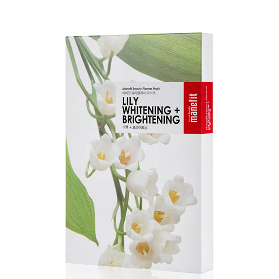 Manefit Beauty Planner Lily Whitening + Brightening Mask