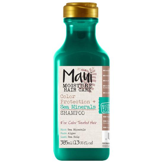 Maui Moisture Vegan Sea Minerals Colour Aloe Vera Shampoo For Coloured Hair & For Blonde Hair 385ml