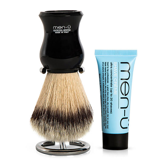 men-ü DB Premier Shave Brush with Chrome Stand