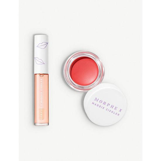 Morphe X Maddie Ziegler Lip Cheek Kits Cosmetify Step into the creative wonderland of @maddieziegler with this capsule collection and let your imagination run wild. cosmetify