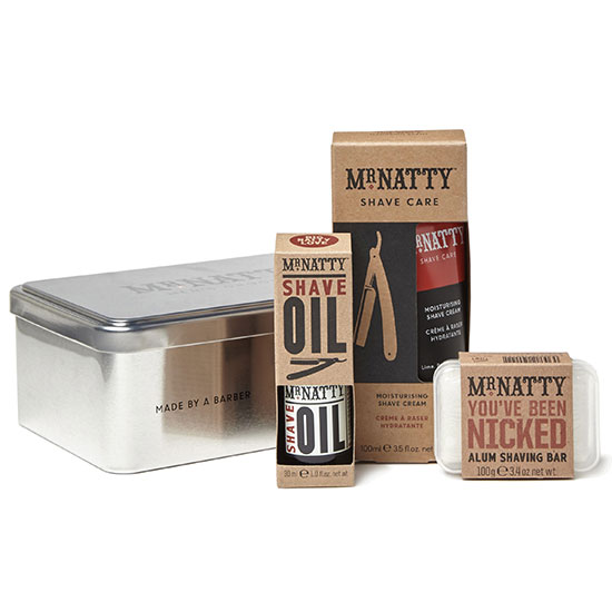 Mr Natty Grooming Kit Tin Silver