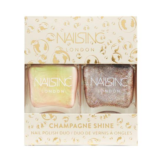 Nails Inc Trend Duo Champagne Shine Nail Polish Duo