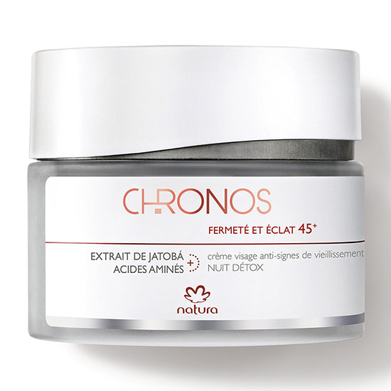 Natura Brasil Chronos Anti-Aging Detox Night Cream Firmness and Radiance 45+