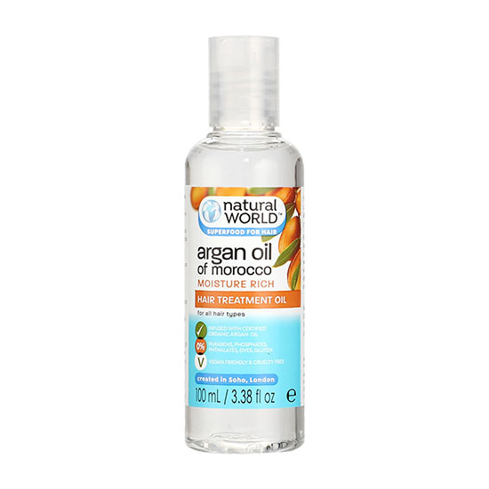 Natural World Argan Oil Of Morocco Hair Treatment Oil
