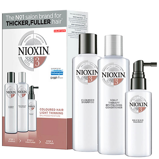 Nioxin 3 Part System Trial Kit 3 for Coloured Hair With Light Thinning