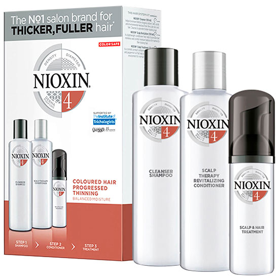 Nioxin 3 Part System Trial Kit 4 for Coloured Hair With Progressed Thinning