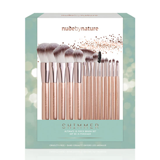 Nude by Nature Shimmer 15 Piece Brush Gift Set