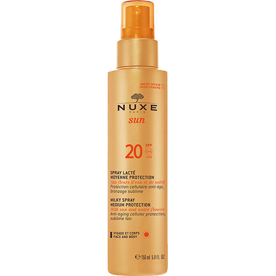 Nuxe SUN Milky Spray For Face & Body Medium Protection SPF20 150ml