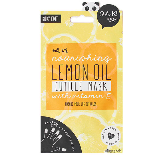 Oh k! Lemon Cuticle Finger Mask
