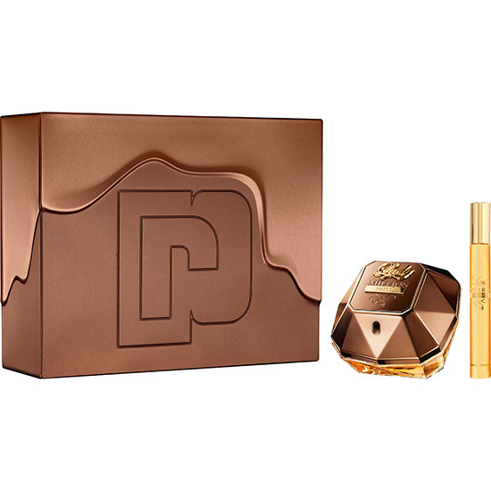 Paco Rabanne Lady Million Prive Eau De Parfum Spray Gift Set 80ml