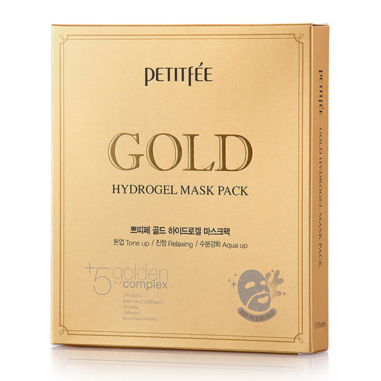 Petitfee Gold & Ginseng Hydrogel Mask Pack x 5