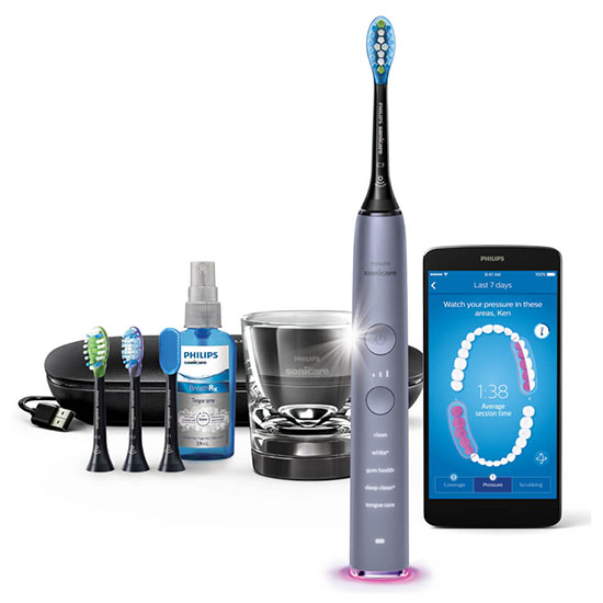 Philips Sonicare DiamondClean Smart Electric Toothbrush Cashmere Grey Edition HX9924/44
