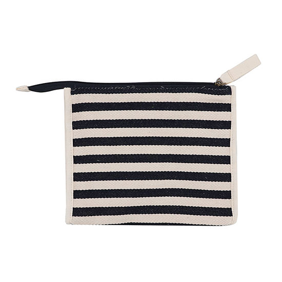 Plum & Ashby Striped Wash Bag Navy