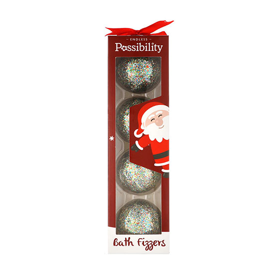 Possibility Bath Fizzer Bar Fun Christmas Fizzers 4 x