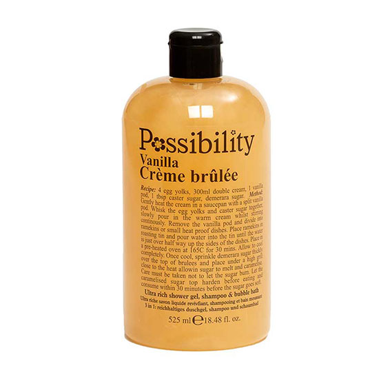 Possibility Vanilla Creme Brulee 3in1 Body Wash & Bath Foam