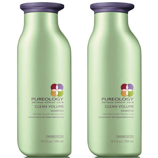 Pureology Clean Volume Trio Set Shampoo 250ml Conditioner & Mousse 238g: For Fine Colour Treated Hair