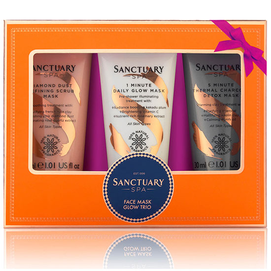 Sanctuary Spa Facemask Glow Trio
