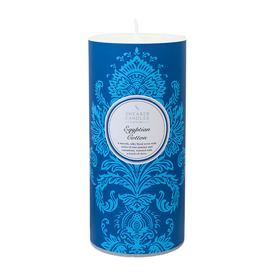 Shearer Candles Egyptian Cotton Patterned Pillar Candle
