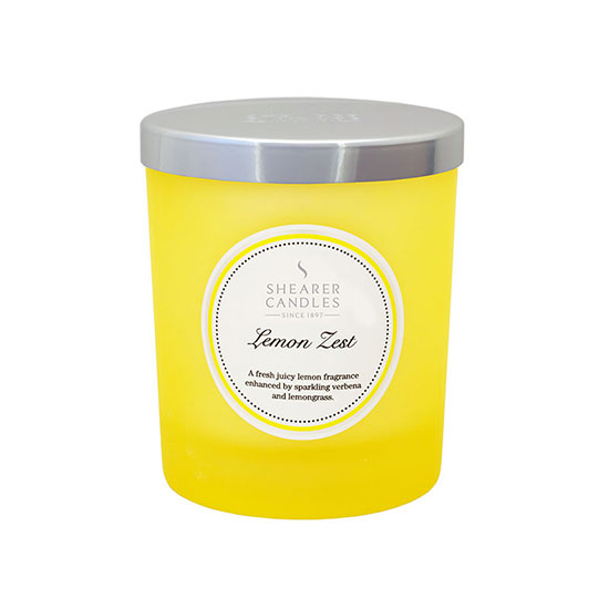 Shearer Candles Lemon Zest Coloured Jar Candle