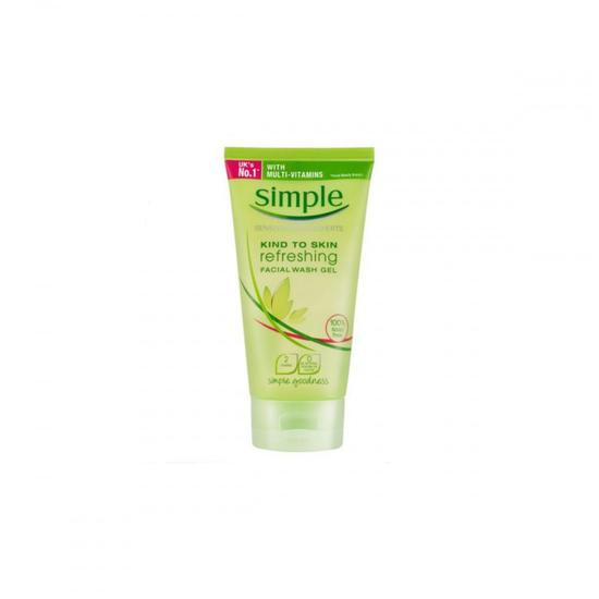Simple Kind To Skin Refreshing Facial Wash Gel Tube
