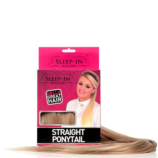 Sleep In Rollers Straight Ponytail Royal Plum