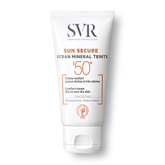 SVR SUN SECURE SPF50+ Tinted Mineral Sunscreen For Dry To Very Dry Skin 60g