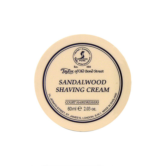 Taylor of Old Bond Street Sandalwood Travel Tub Shaving Cream 60ml