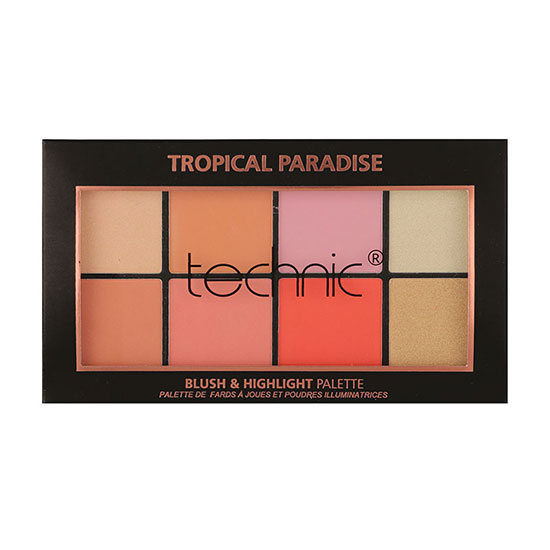 Technic Blush & Highlighter Palette Tropical Paradise