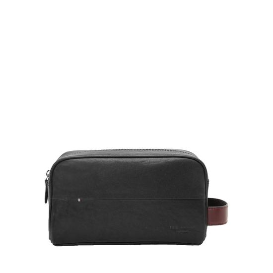 Ted Baker Leather Wash Bag Black
