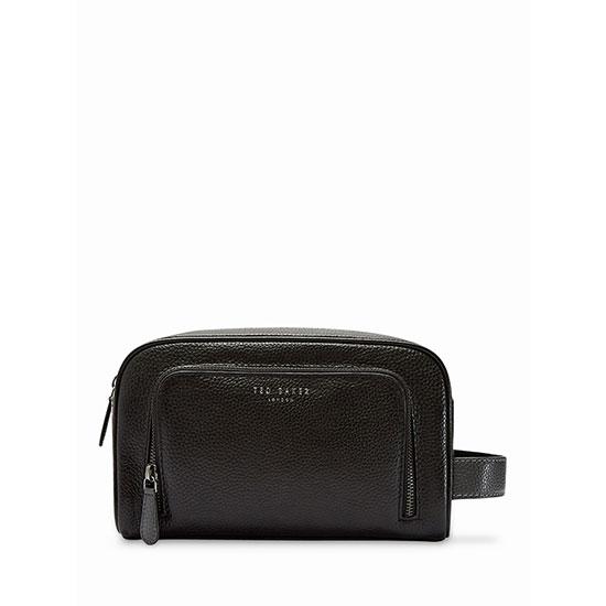 f9af67ee73e7 Ted Baker Razor Leather Wash Bag Black