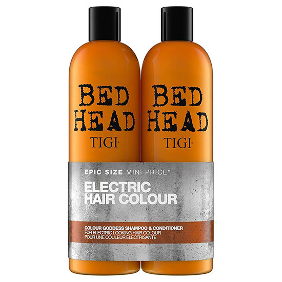 TIGI Bed Head Colour Goddess Oil Infused Shampoo & Conditioner for Coloured Hair 2 x 750ml