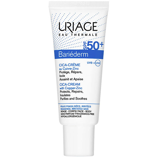 Uriage Eau Thermale Bariederm Cica Cream With Copper Zinc SPF 50+