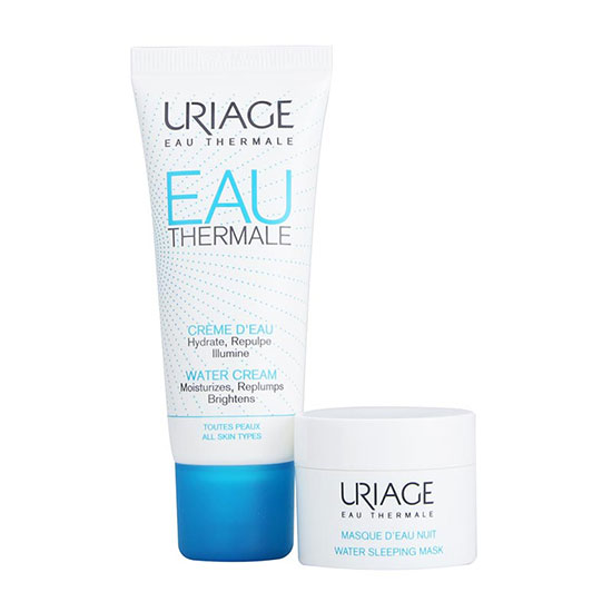 Uriage Eau Thermale Light Water Cream Sleeping Mask Set