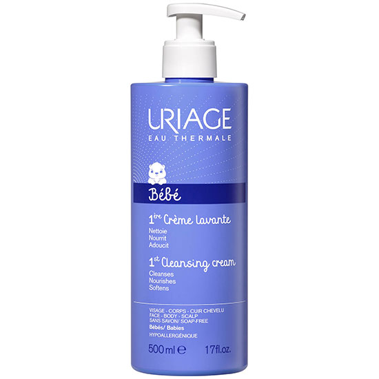 Uriage Eau Thermale Soap Free Cleansing Cream For Face, Body & Scalp