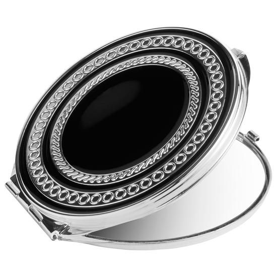 Vera Wang With Love Noir Compact Mirror Silver/Black