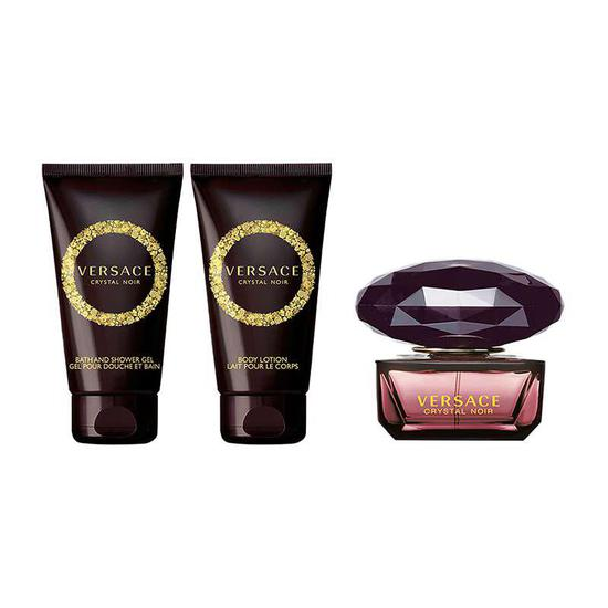 Versace Crystal Noir Eau De Toilette Fragrance Gift Set 50ml