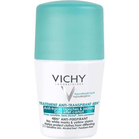Vichy 48hr Anti-Perspirant Roll On No White Marks & Yellow Stains 50ml