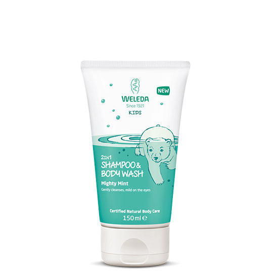 Weleda Kids' 2 In 1 Mighty Mint Shampoo & Body Wash