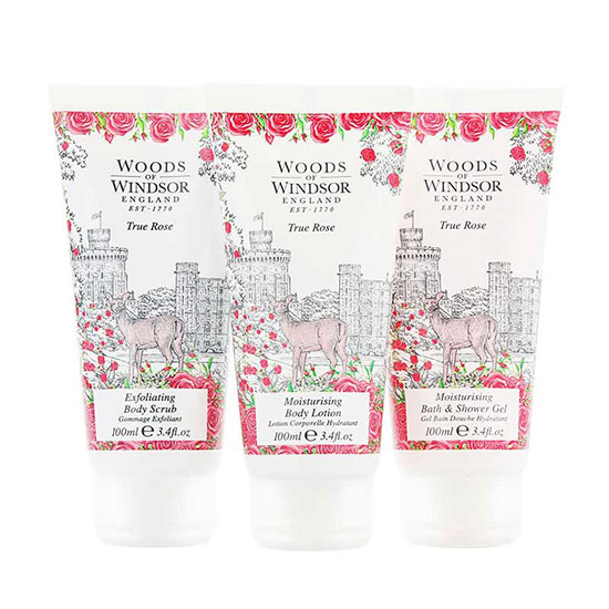 Woods of Windsor True Rose Bath & Body Collection Gift Bag