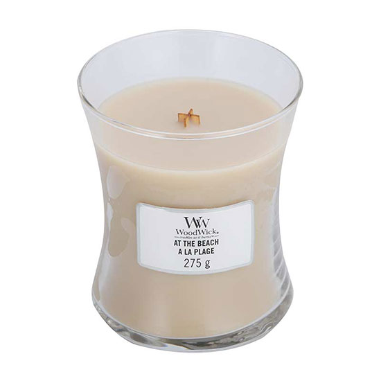 WoodWick At The Beach Medium Jar Candle 275g