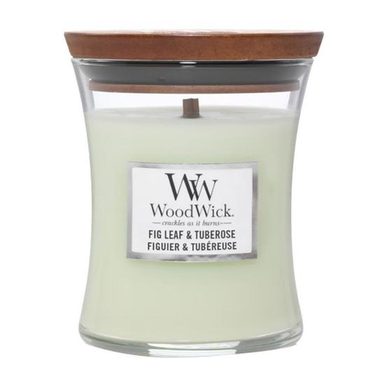 WoodWick Fig Leaf & Tuberose Medium Jar Candle 275g