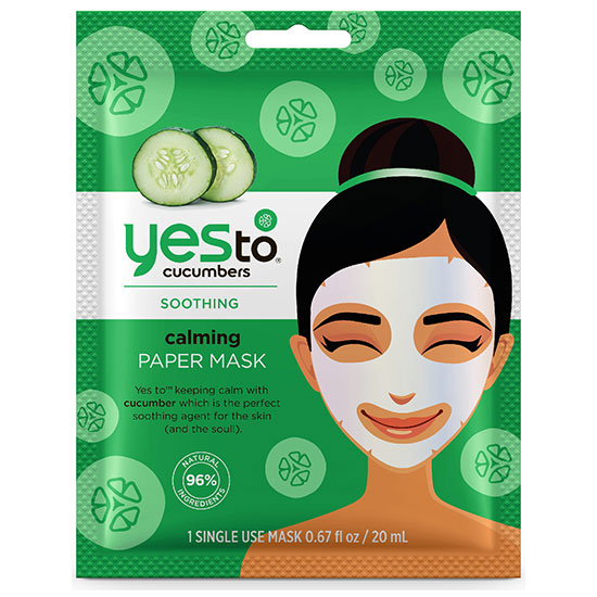 Yes To Cucumbers Calming Paper Mask 1 Pack