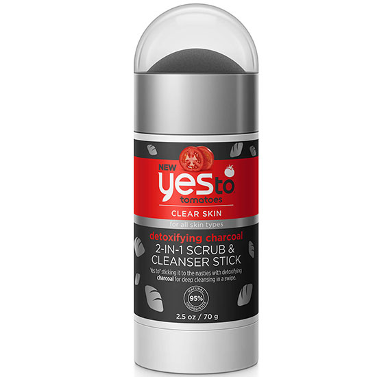 Yes To Tomatoes Detoxifying Charcoal 2 In 1 Scrub & Cleanser Stick