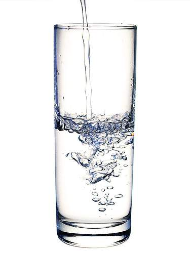 tall glass of water