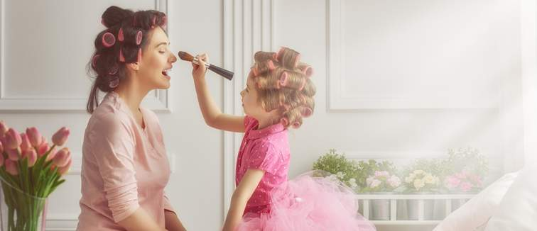 mother and daughter have a pamper together