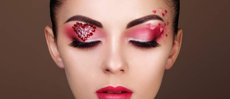 Valentine's Day Heart Makeup