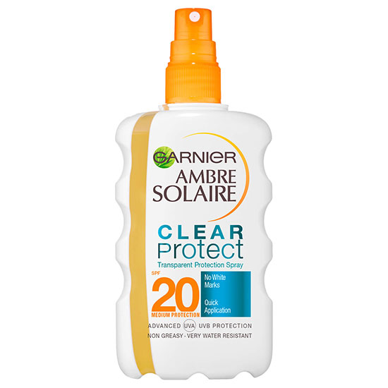 Ambre Solaire Clear Protect Transparent Sunscreen Protection Spray SPF20