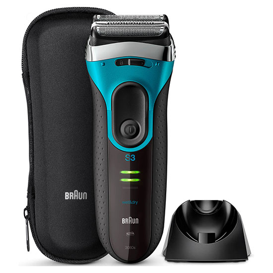 Braun Series 3 Proskin 3080s Electric Shaver Black/Blue