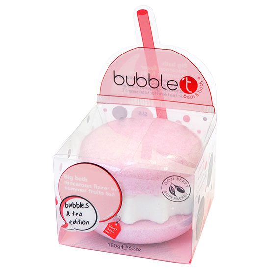 Bubble T Summer Fruits Tea Giant Bath Bomb Fizzer